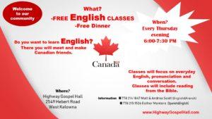 English Class & Dinner - Highway Gospel Hall